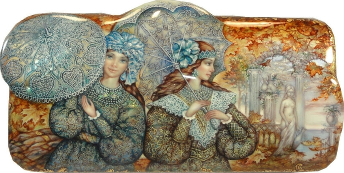 Лаковая миниатюра Сергея Князева -Федоскино