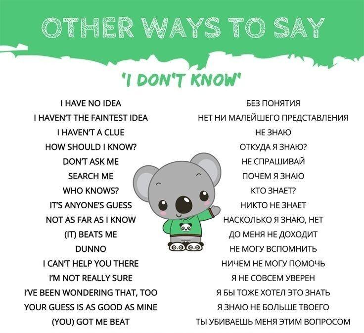 Как сказать по - другому