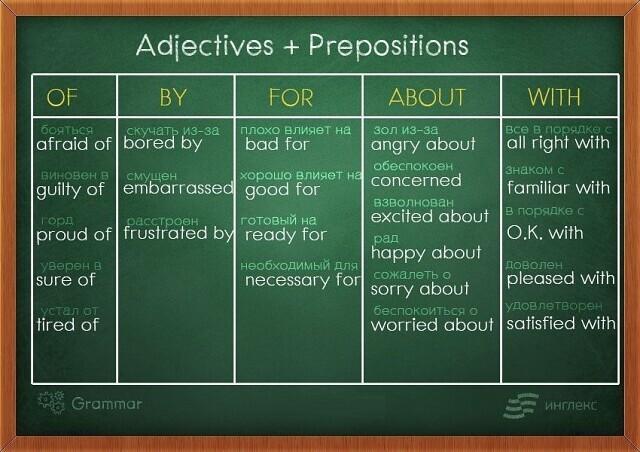 Прилагательные и предлоги