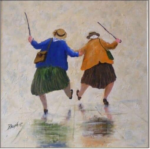 Две дамы в троллейбусе № 7 едут в Сандуны