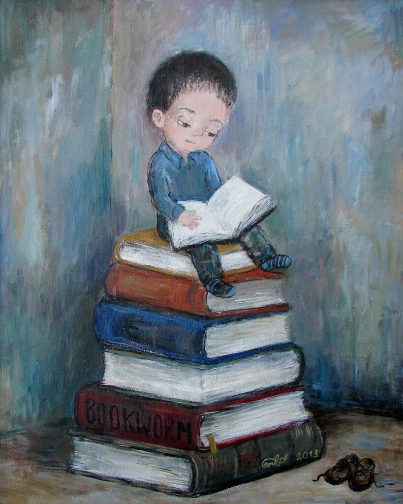 Образование  даёт родительский книжный шкаф...