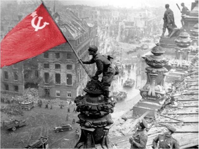 Вечная память советскому солдату...