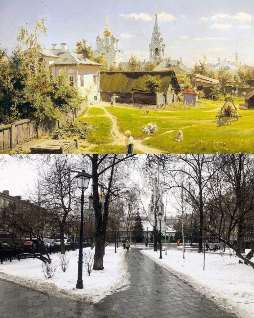 Московский дворик. Василий Дмитриевич Поленов