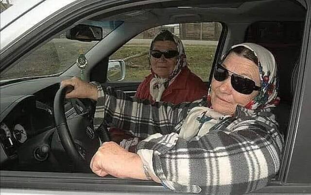 Бабуля за рулём. Случай из жизни