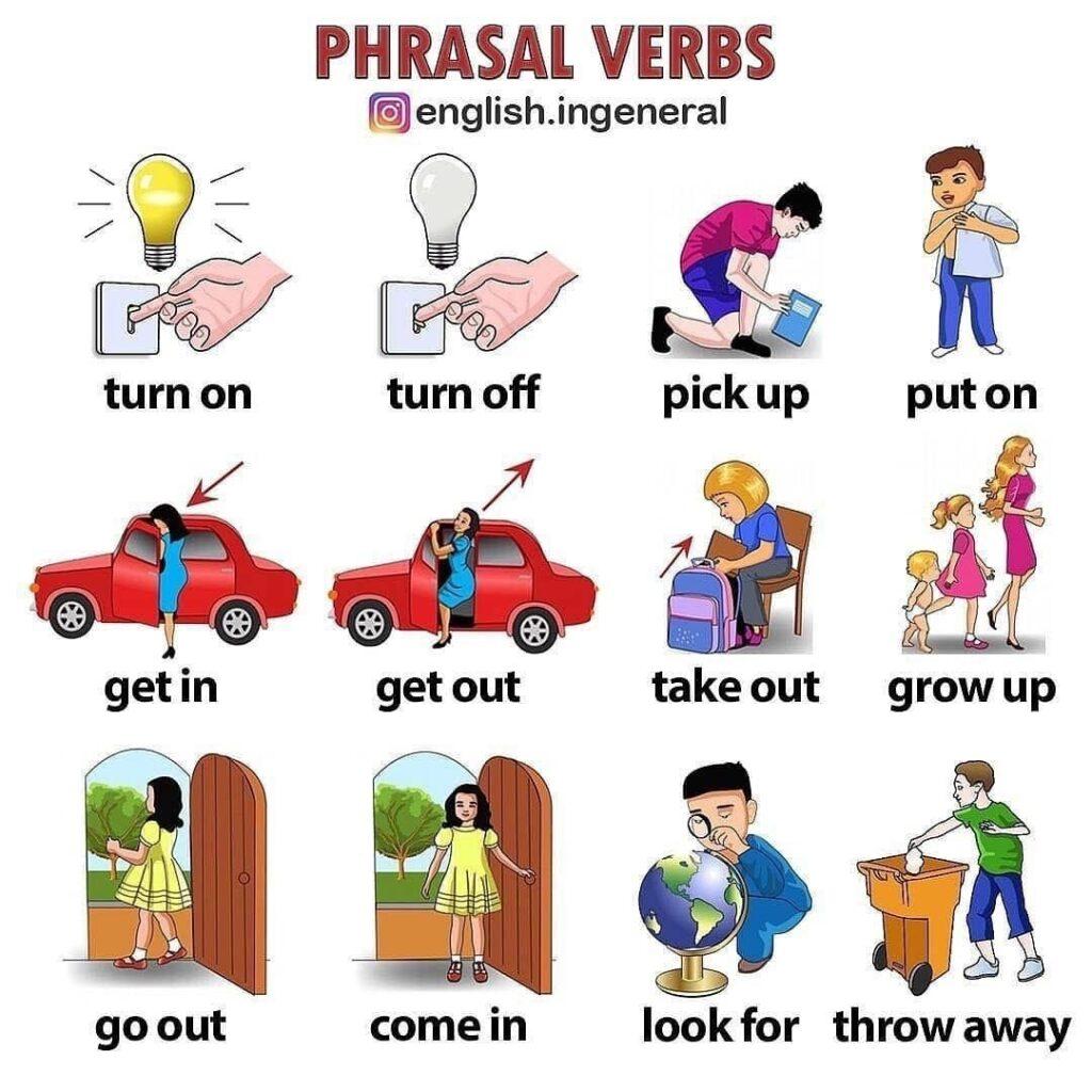 Фразовые глаголы наглядно