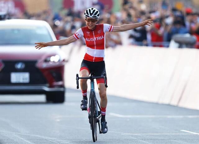 Австрийка Анна Кизенхофер выиграла велосипедную шоссейную гонку (137км)