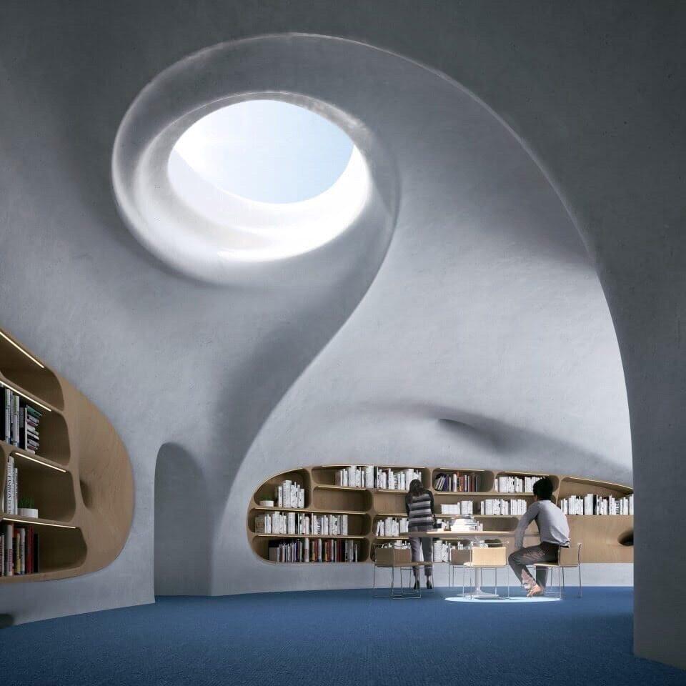 """"""" Инопланетная"""" библиотека в Китае"""