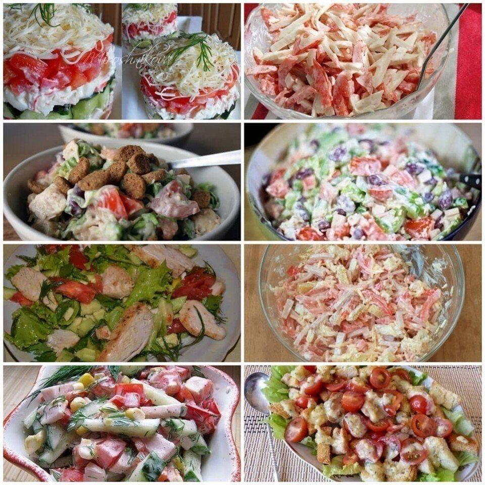 10 салатов с помидорами