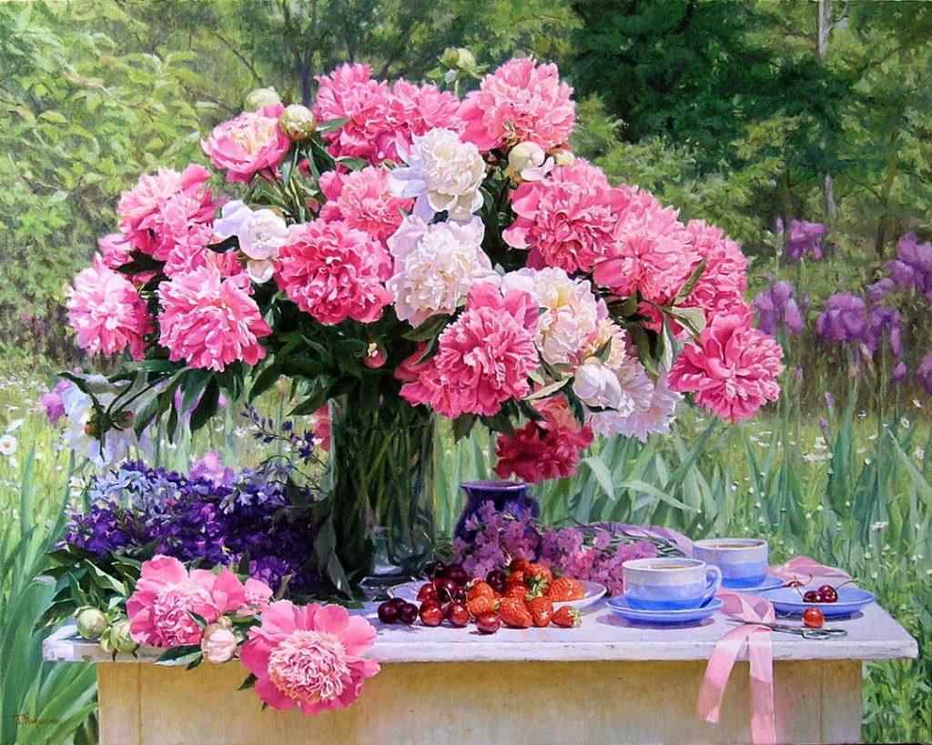 В летнем саду... Натюрморты в живописи художника Геннадия Кириченко