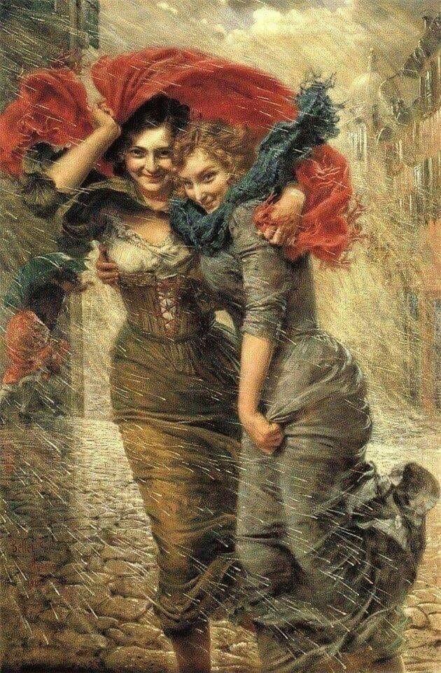 """Картина """"Порыв ветра"""", 1907 г."""