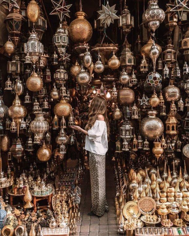 Лавка сувениров в Марокко
