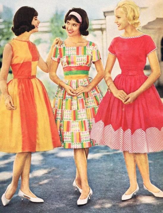 Девчата 60-х. Мода.