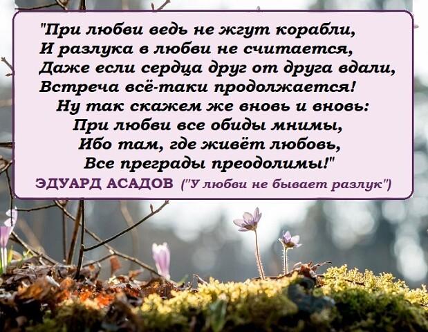 Эдуард Асадов.Не привыкайте никогда к любви