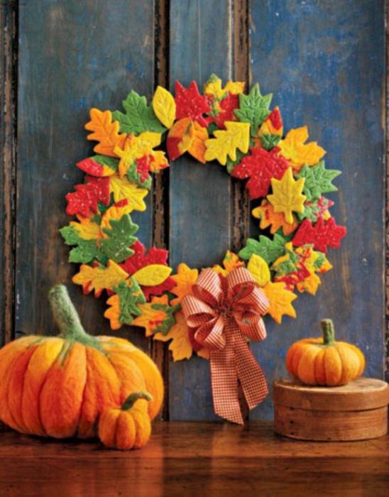 Осенние композиции из фетра. Полюбоваться и вдохновиться